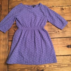 Gap Kids Eyelet Fit and Flare Purple Dress